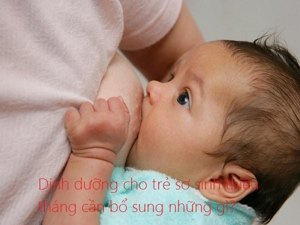 Dinh dưỡng cho trẻ sơ sinh thiếu tháng cần bổ sung những gì? 1