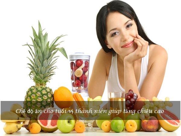 Chế độ ăn cho tuổi vị thành niên giúp tăng chiều cao 1