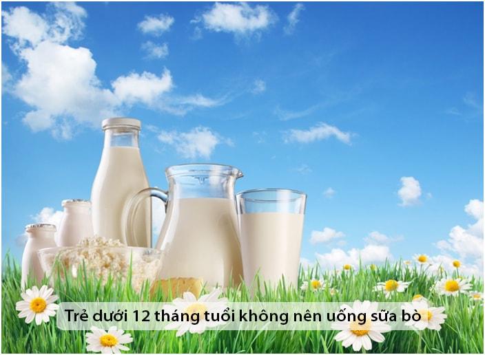 8 nguyên nhân không nên cho trẻ dưới 12 tháng tuổi uống sữa bò