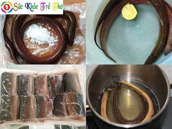 cách nấu cháo lươn cho bé ăn dặm