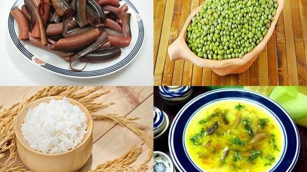 cách nấu cháo lươn đậu xanh cho bé ăn dặm