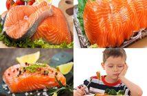 tác dụng của cá hồi đối với trẻ em
