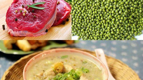 cách nấu cháo bò đậu xanh