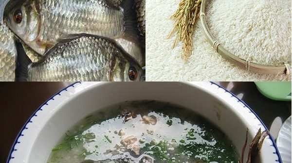 cách nấucháo cá diếc