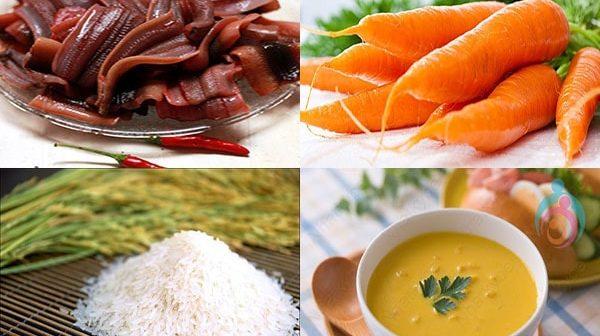 cách nấu cháo lươn cà rốt cho bé ăn dặm