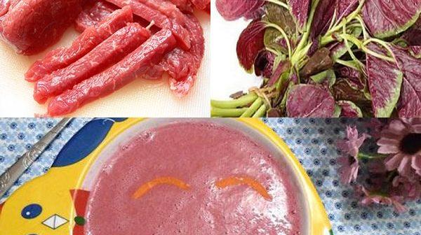 cách nấu cháo thịt bò rau dền