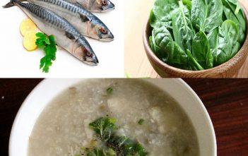 cháo cá thu nấu với rau gì