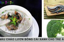 5 phút học cách nấu cháo lươn bông cải xanh 2