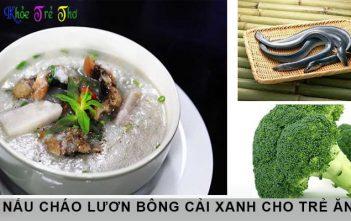 5 phút học cách nấu cháo lươn bông cải xanh 1