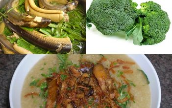cháo lươn bông cải xanh