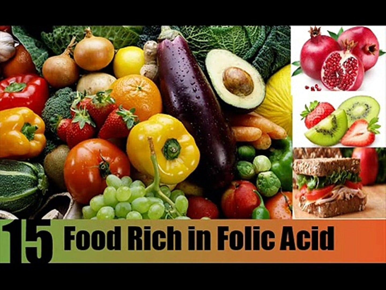 Mẹ nên lựa chọn thực phẩm có lượng acid folic cao