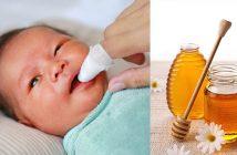 Dùng mật ong chữa tưa lưỡi cho trẻ sơ sinh - Có nên không?