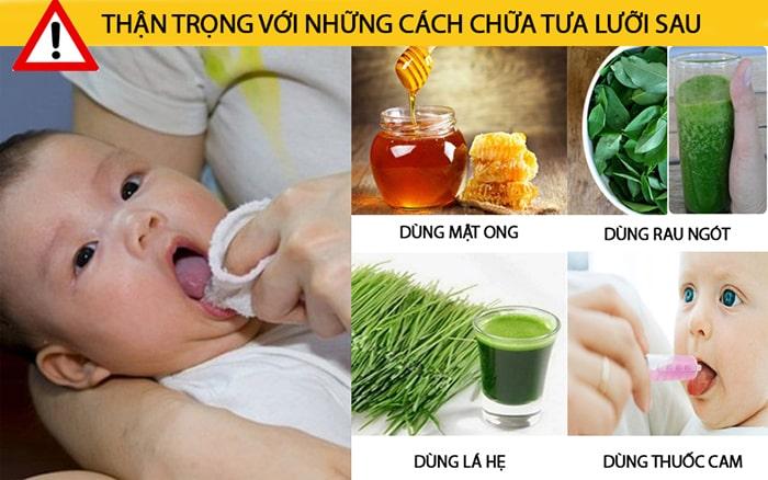 Thận trọng với việc chữa tưa lưỡi bằng mật ong, rau ngót, lá hẹ, thuốc cam