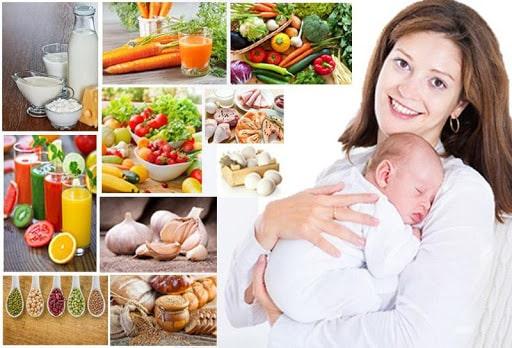 Chế độ ăn uống, ngủ nghỉ mẹ sau sinh
