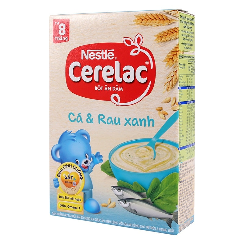 Bột ăn dặm cá và rau xanh Nestle