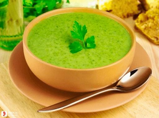 Món cháo thịt heo rau cải