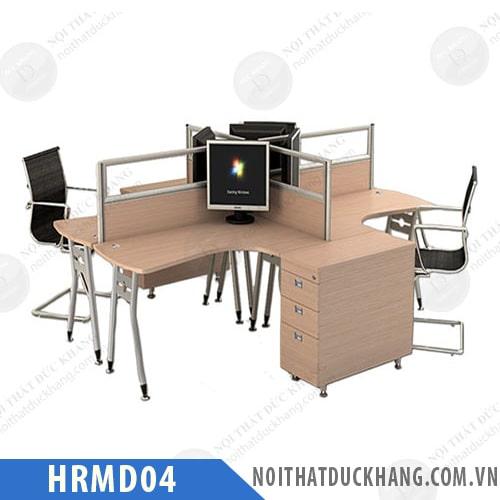 Cụm bàn làm việc 4 chỗ HRMD04