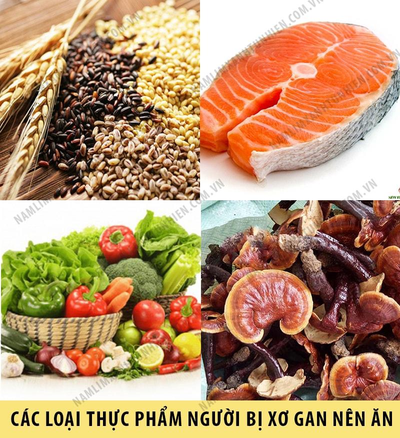 Những thực phẩm tốt cho người bị xơ gan